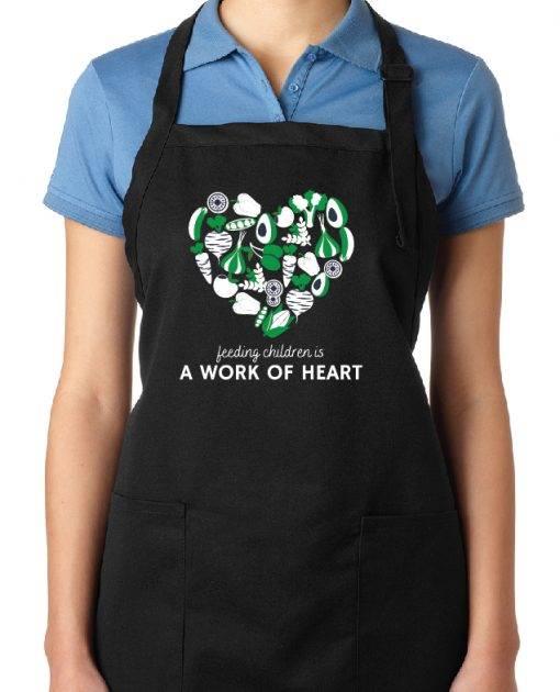 Blue Heart Apron
